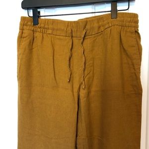 New Old Navy Linen Cropped Pants